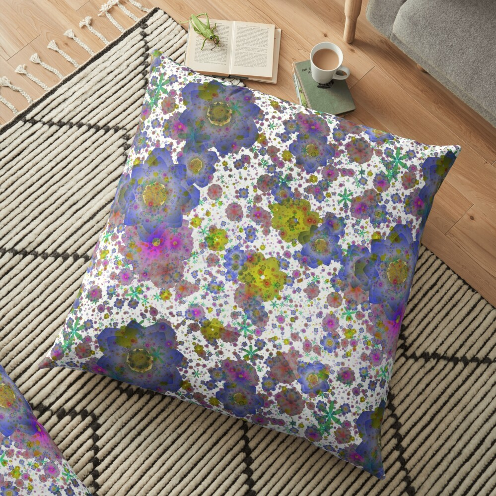Floral pattern,transparent background Floor Pillow