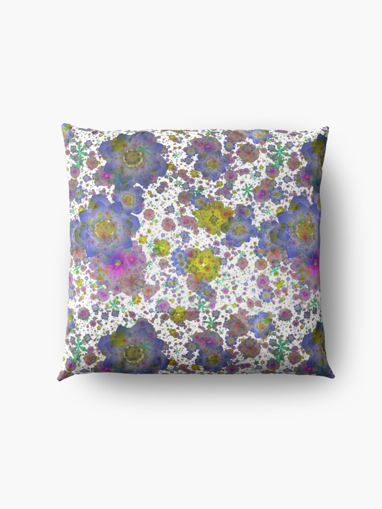 Alternate view of Floral pattern,transparent background Floor Pillow