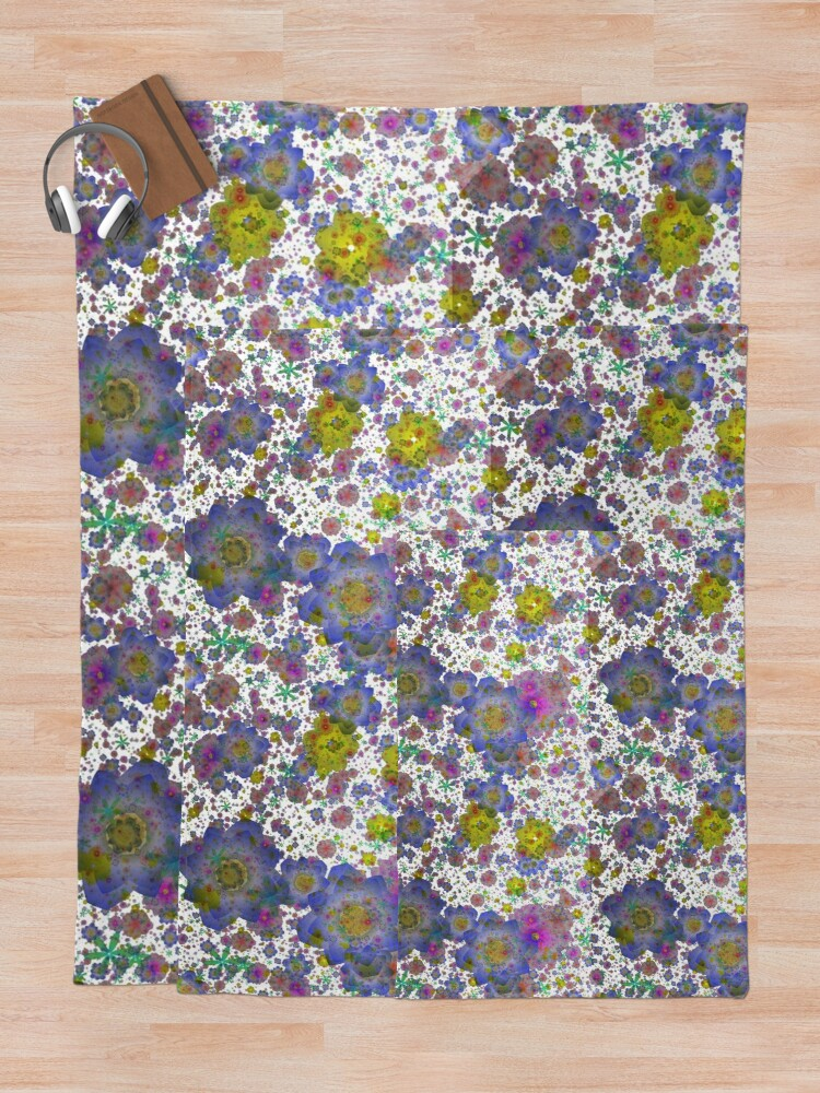 Alternate view of Floral pattern,transparent background Throw Blanket