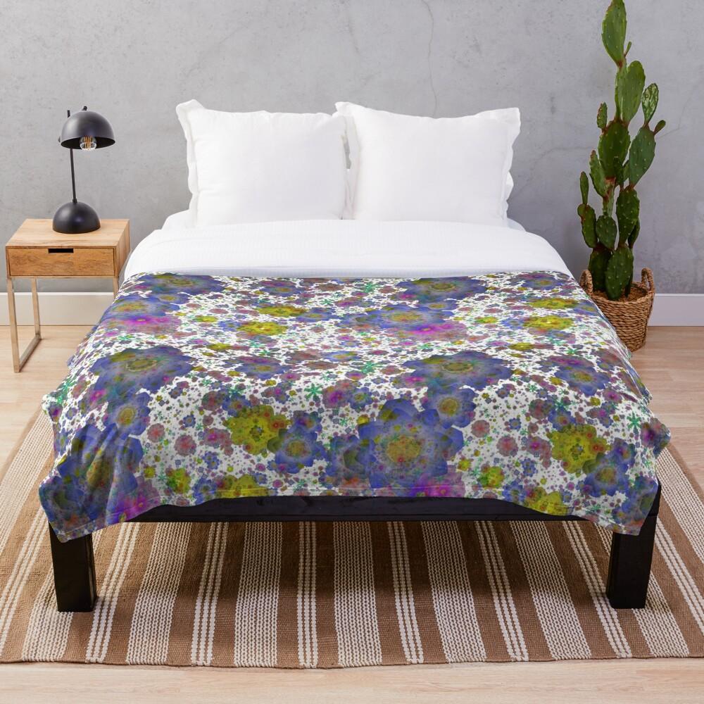Floral pattern,transparent background Throw Blanket