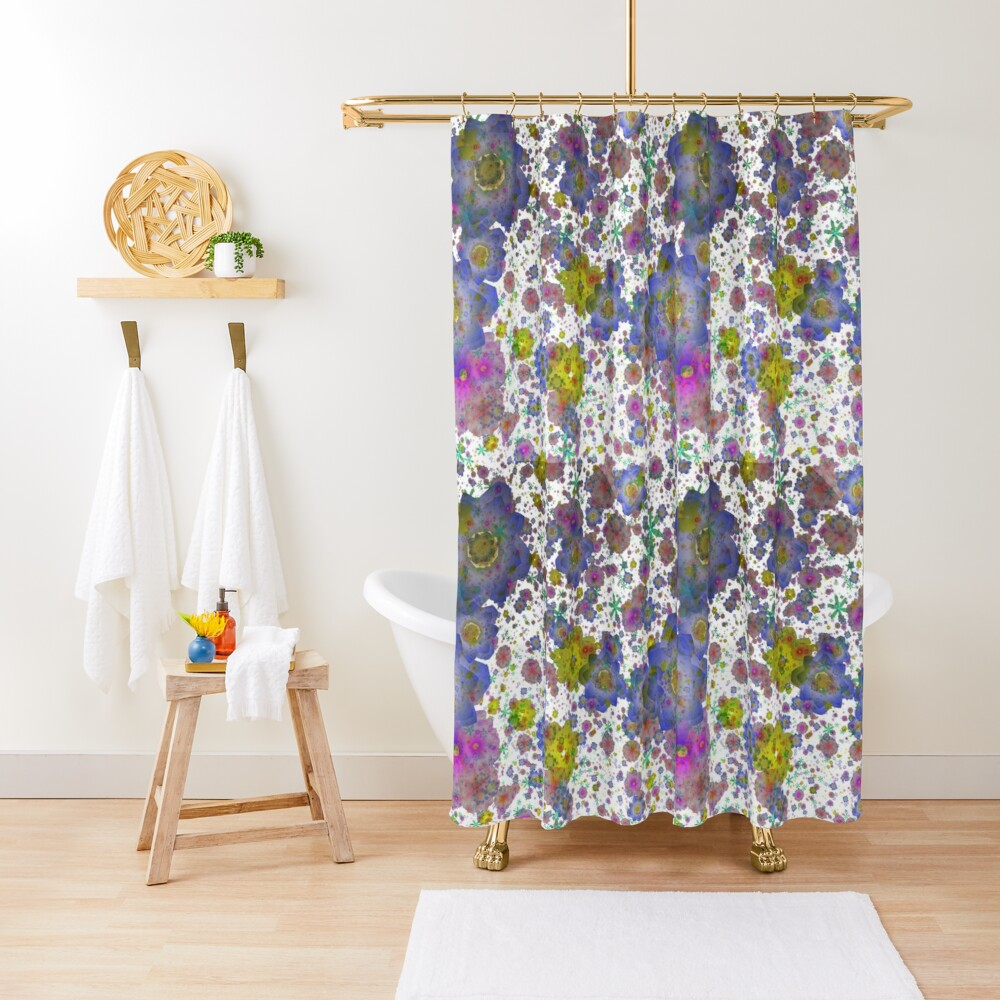 Floral pattern,transparent background Shower Curtain