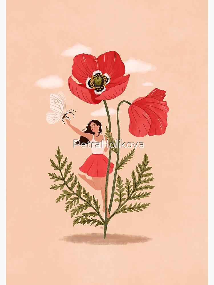 Girl and Poppy Flower by PetraHolikova