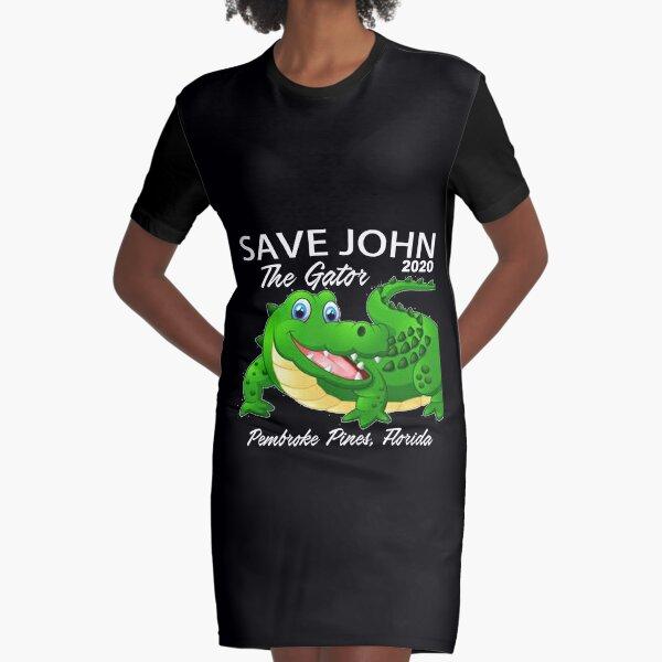 Save John The Gator  Graphic T-Shirt Dress