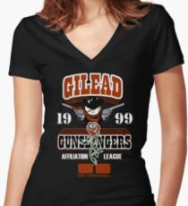 Gilead Gunslingers Women's Fitted V-Neck T-Shirt