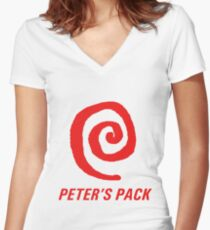 Peter's pack (tshirt) Women's Fitted V-Neck T-Shirt
