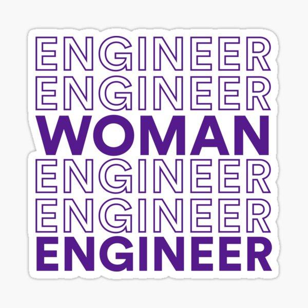 Woman Engineer Sticker