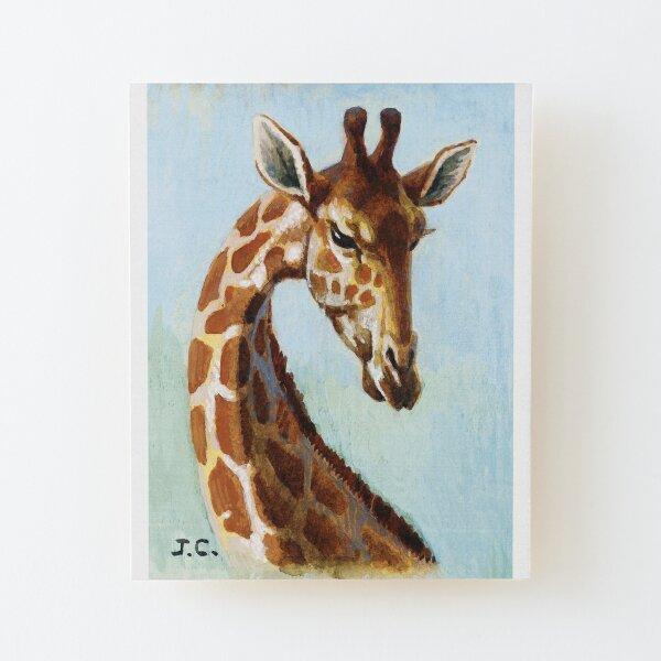Rarement rencontrée : la girafe Impression montée sur bois