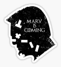 MARV IS COMING Sticker