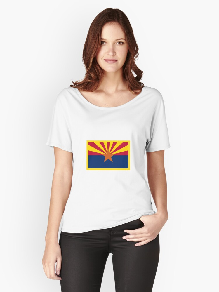 Arizona Flag Women's Relaxed Fit T-Shirt Front