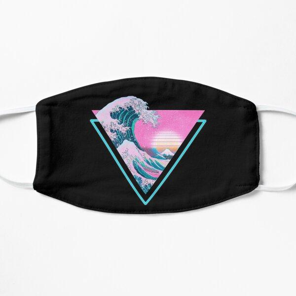 Vaporwave Aesthetic Great Wave Retro Triangle Flat Mask
