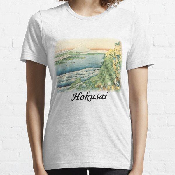 Hokusai - Travelers Climbing a Mountain Path Essential T-Shirt