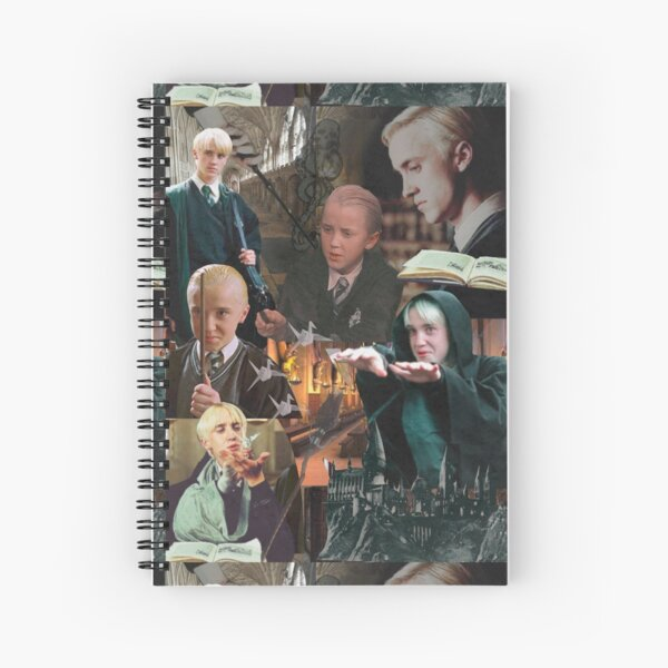 Collage || Draco Malfoy Spiral Notebook