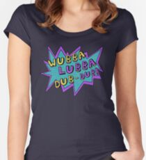 Wubba Lubba Dub-Dub! Women's Fitted Scoop T-Shirt