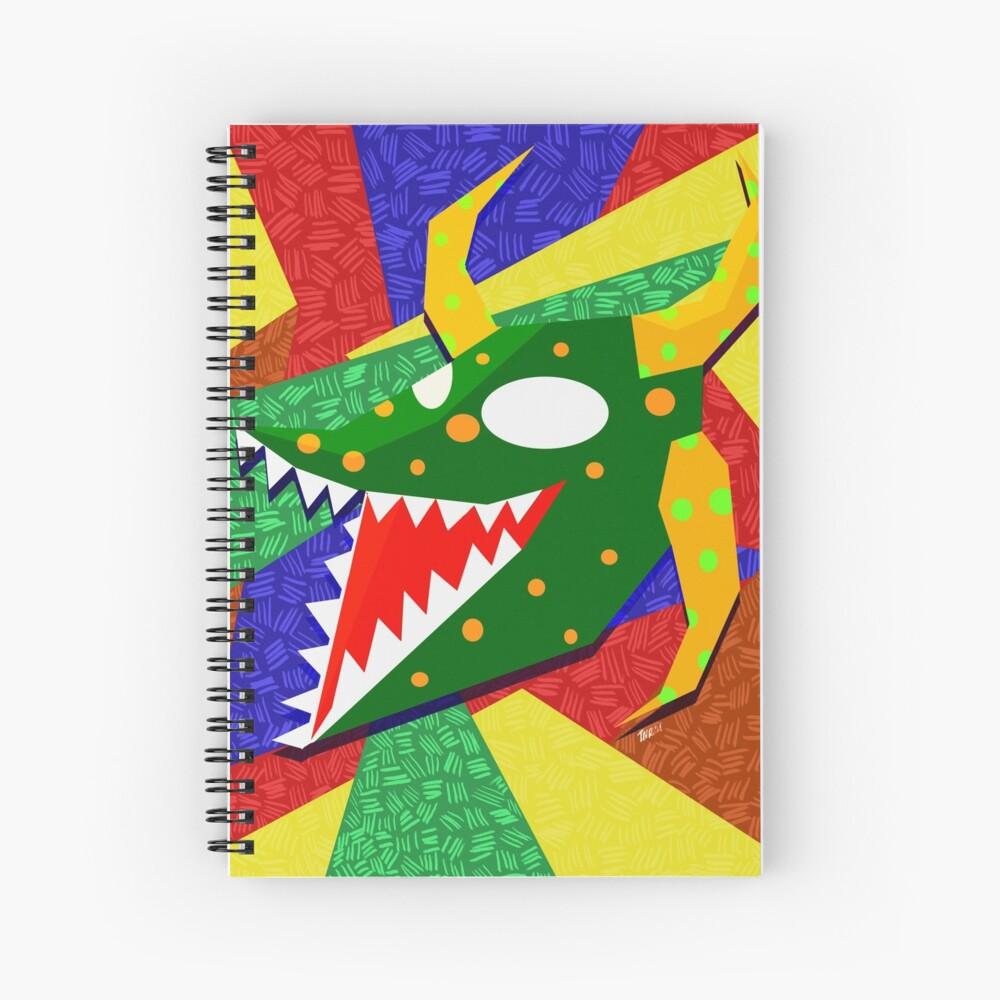 vejigante verde Spiral Notebook
