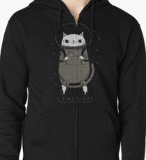 space cat Zipped Hoodie