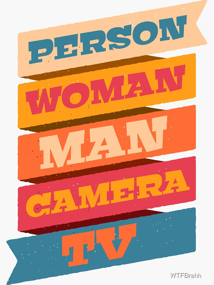 Person Woman Man Camera TV Logo Official WTFBrahh  by WTFBrahh