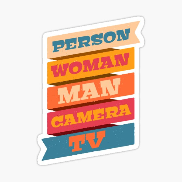 Person Woman Man Camera TV Logo Official WTFBrahh  Sticker