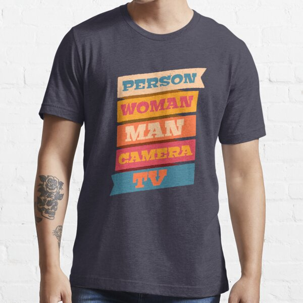 Person Woman Man Camera TV Logo Official WTFBrahh  Essential T-Shirt