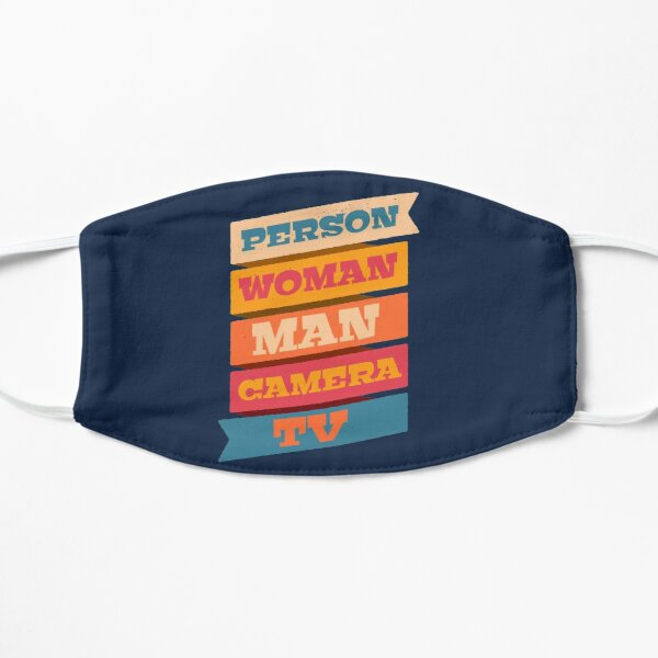 Person Woman Man Camera TV Logo Official WTFBrahh  Flat Mask