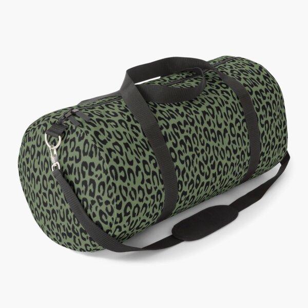 Leopard, pattern, green Duffle Bag