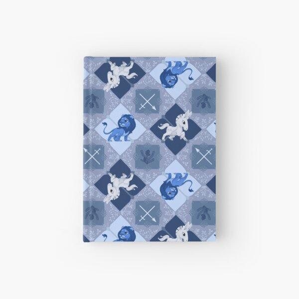 Blue Lions Checker Hardcover Journal