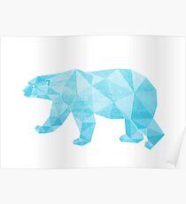 Geometric Ice Bear Poster