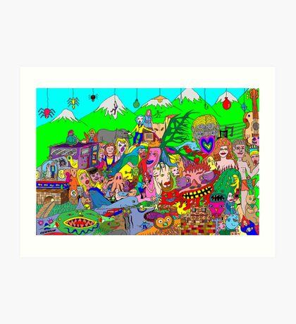 Alpine doodle Art Print