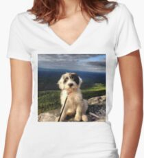 Mountain Pup Women's Fitted V-Neck T-Shirt