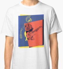 Pop Art Skeleton Guitar 3 Classic T-Shirt
