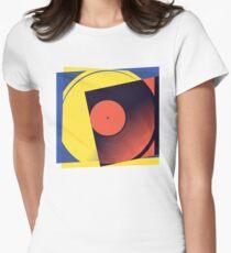 Pop Art Vinyl Record 1 Women's Fitted T-Shirt