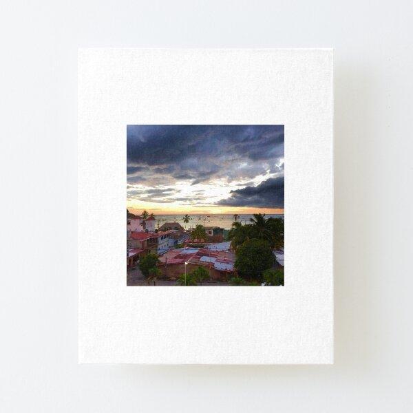 Sunset in San Juan Del Sur Nicaragua Canvas Mounted Print