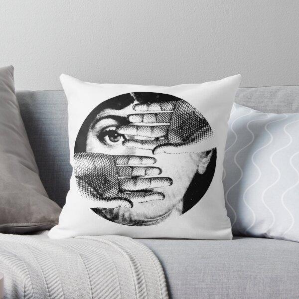 Lina Cavalieri Pop Art Fornasetti girl Throw Pillow