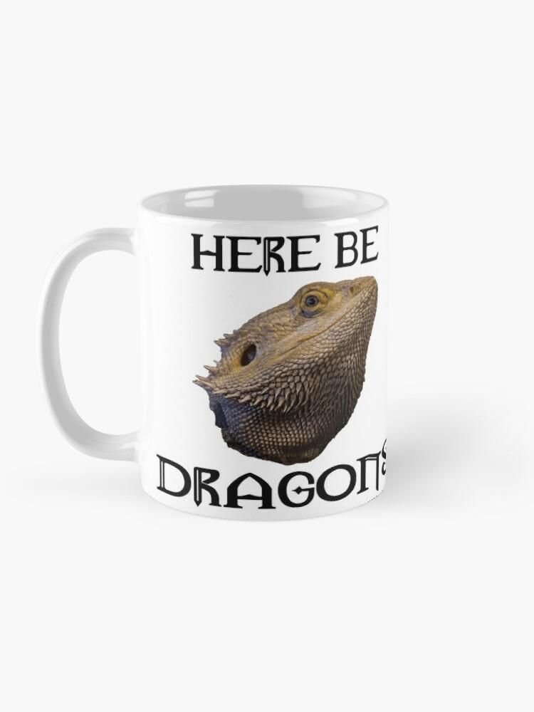 Alternate view of Here Be Dragons Mug