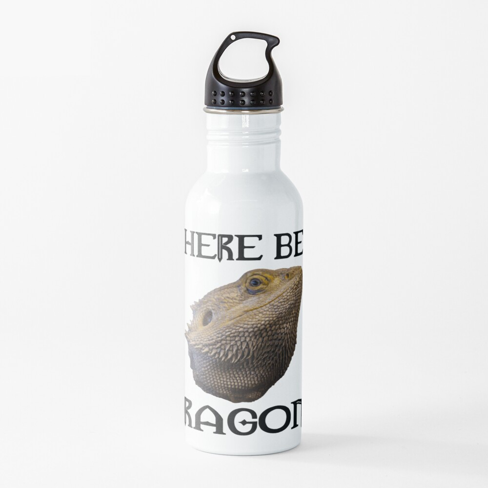 Here Be Dragons Water Bottle