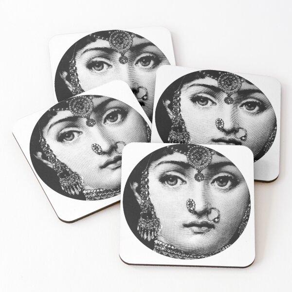 Lina Cavalieri Pop Art Fornasetti girl Coasters (Set of 4)