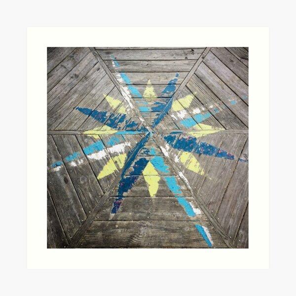 Dock Compass Art Print