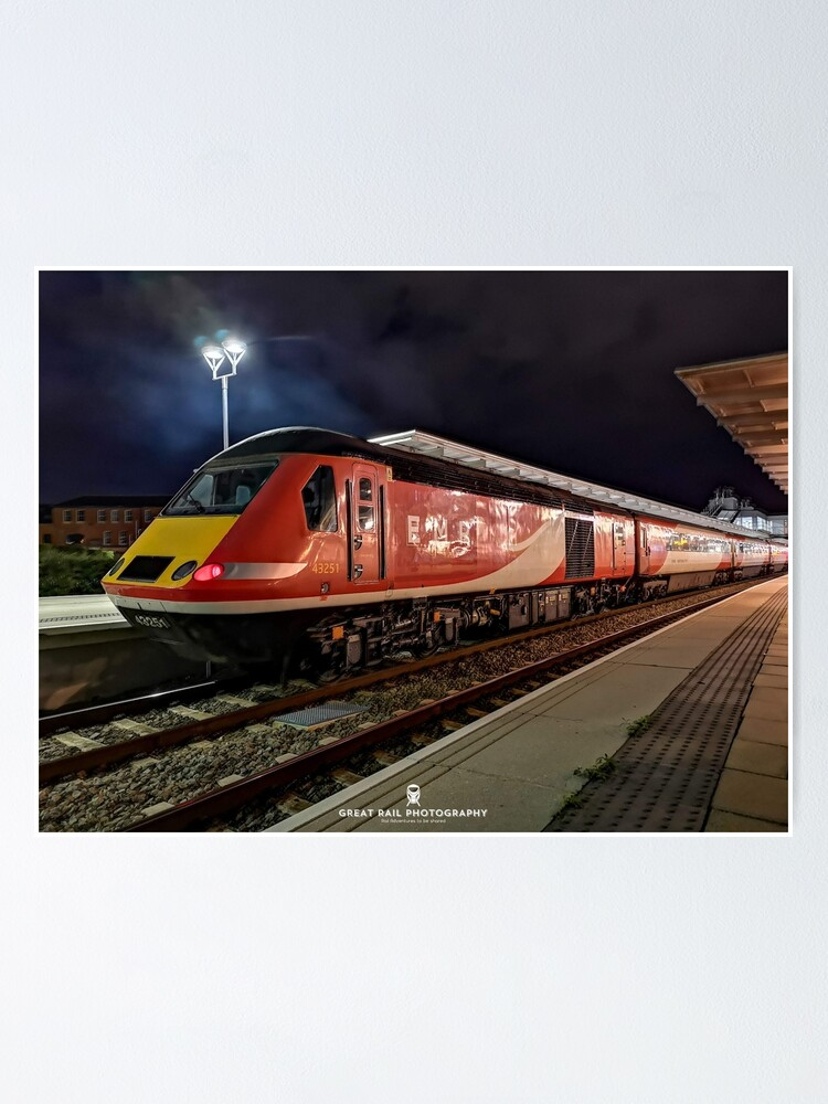 Alternate view of Nighttime HST Poster