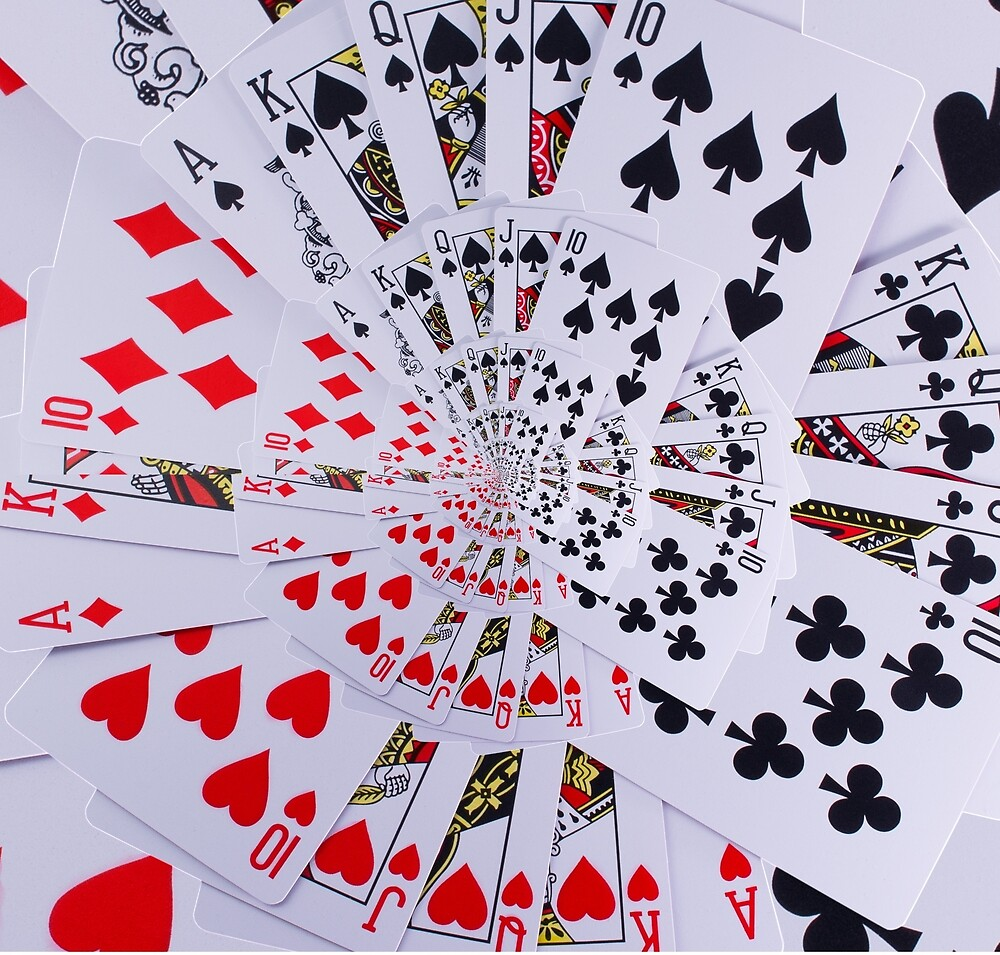 Poker Royal Flush All Suits Droste Spiral by Kitty Bitty