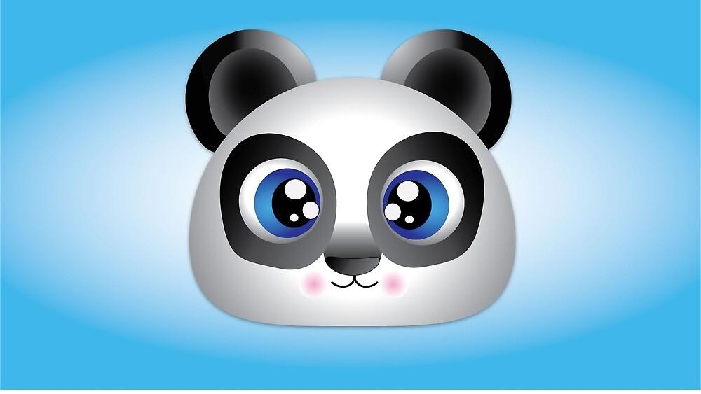 Adorable, Cute Cartoon Panda Bear by Dillon McLaren