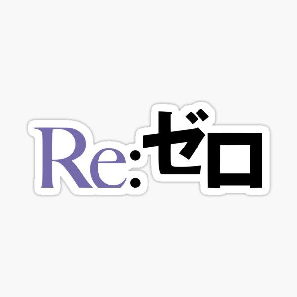 Re:Zero kara Hajimeru Isekai Seikatsu - logo (Purple) Sticker