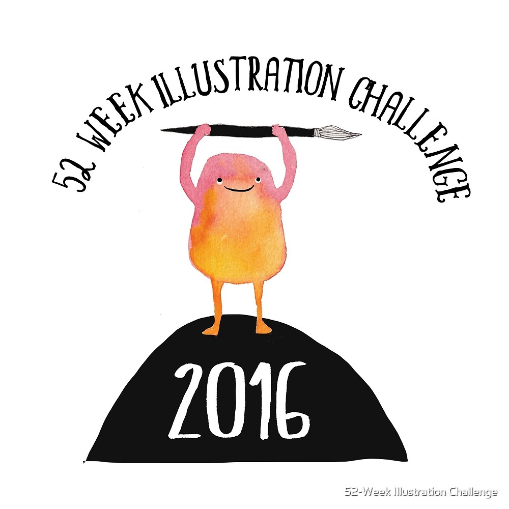 52 Week Illustration Challenge 2016 LOGO by 52-Week Illustration Challenge