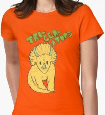 Triceratops Women's Fitted T-Shirt