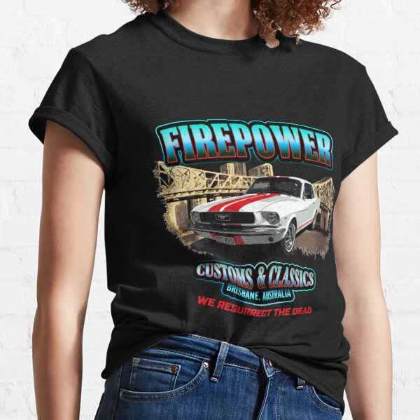FIREPOWER CUSTOMS AND CLASSICS MUSTANG BRISBANE SOUVENIR Classic T-Shirt