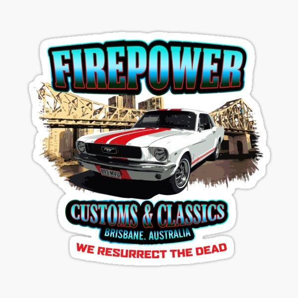 FIREPOWER CUSTOMS AND CLASSICS MUSTANG BRISBANE SOUVENIR Sticker