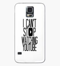 Funda/vinilo para Samsung Galaxy No puedo dejar de ver YouTube