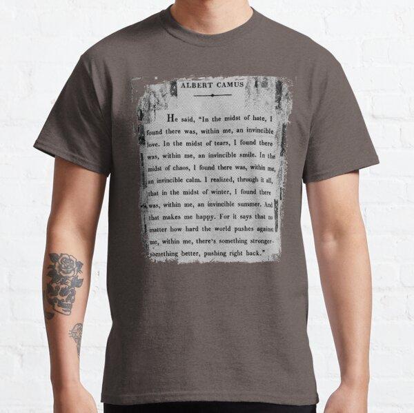 Albert Camus: an invincible summer. Classic T-Shirt