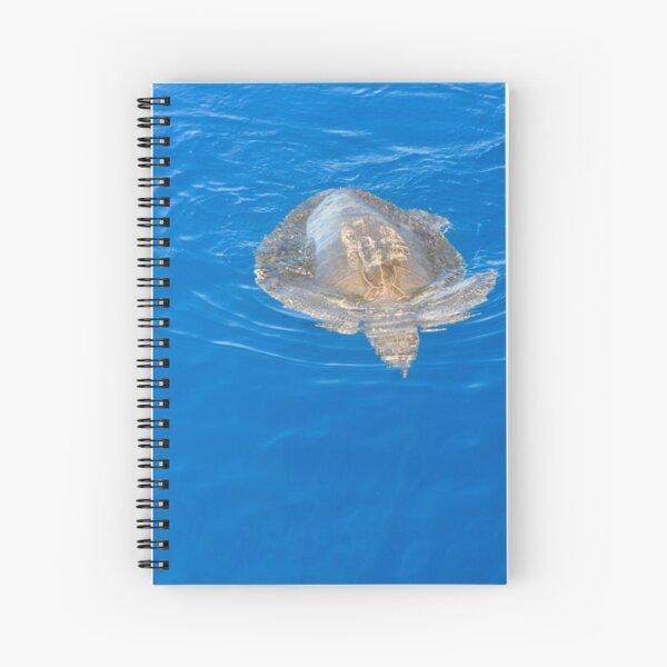 Sea Turtle in Open Ocean Spiral Notebook