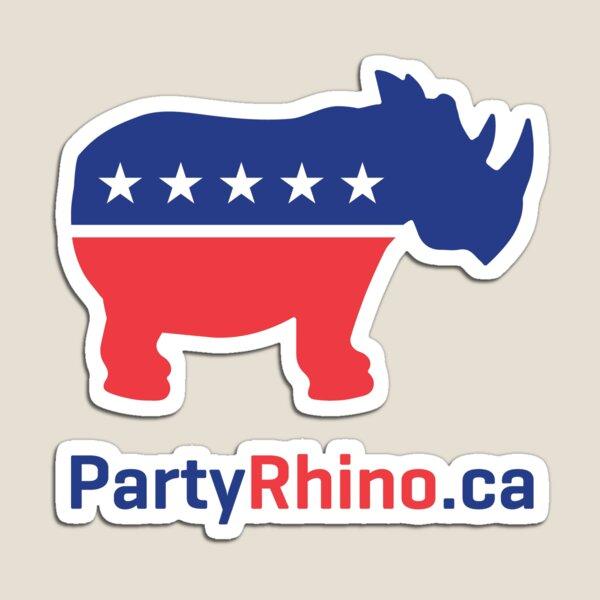 Rhino Party Logo 2019 Magnet