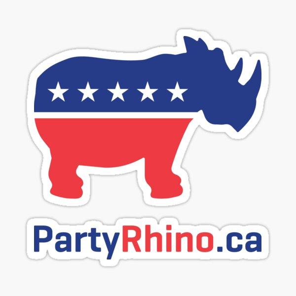 Rhino Party Logo 2019 Sticker