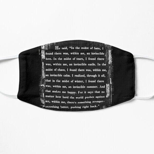 Albert Camus: an invincible summer. 2.0 Flat Mask
